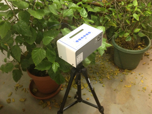 Continuous radon monitor in Salt Lake City home